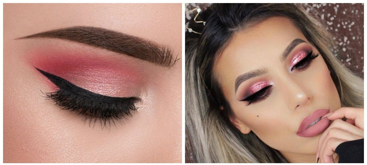 fashion makeup 2018, fashionable pink makeup