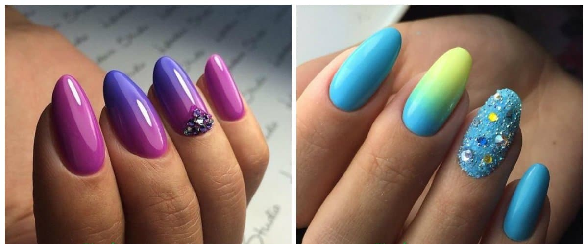 nail art for long nails, trendy ombre long nails 2018