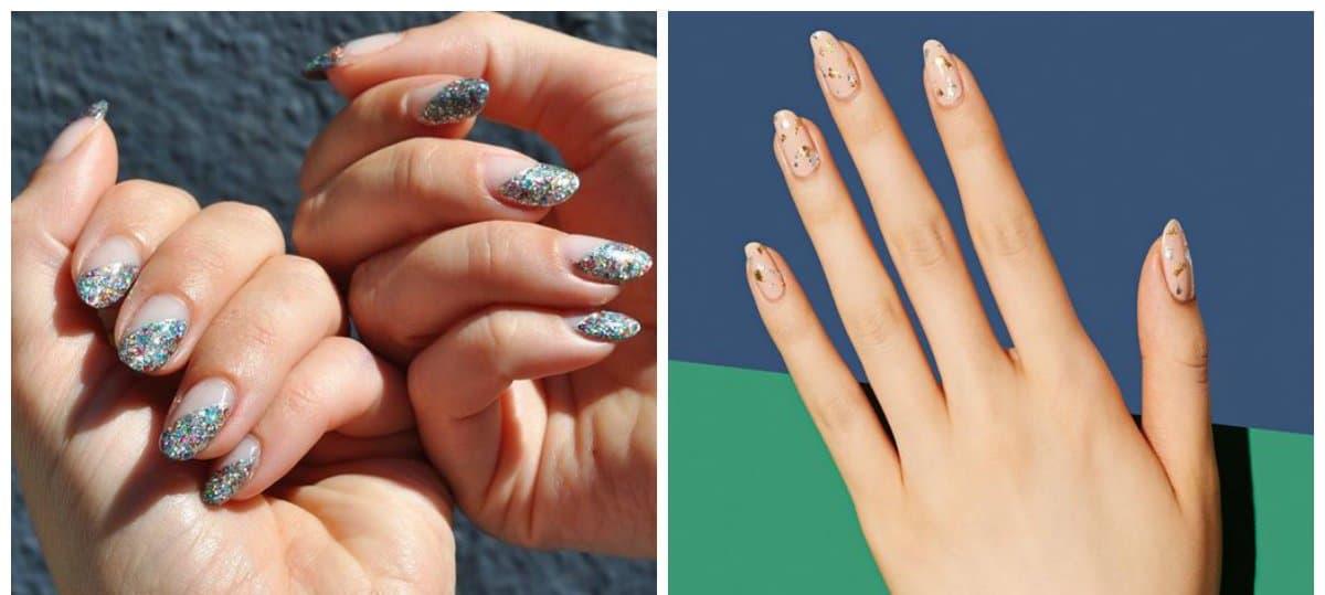 long nail designs, glitter long nail designs
