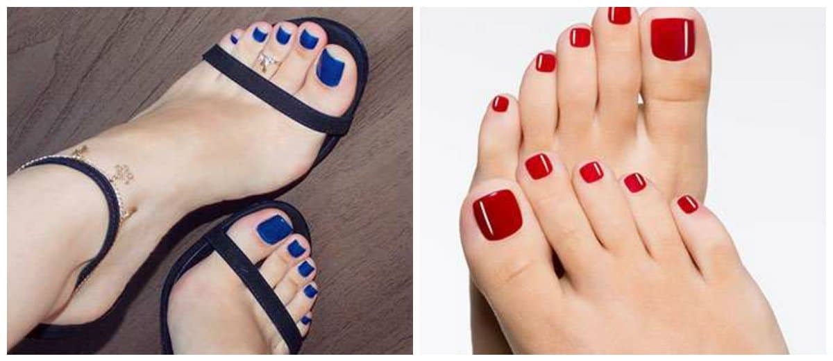 pedicure 2018, monochrome pedicure 2018