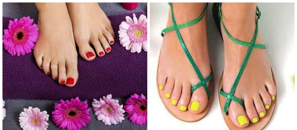 pedicure 2018, stylish trends and ideas of pedicure nail art