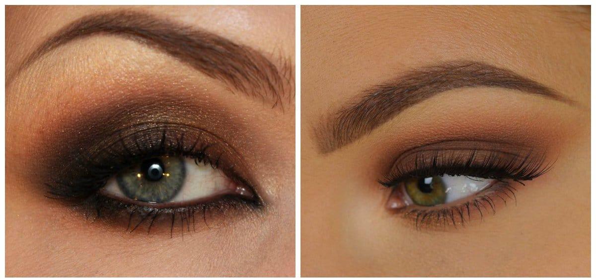 popular makeup palettes 2018, brown smoky eyes