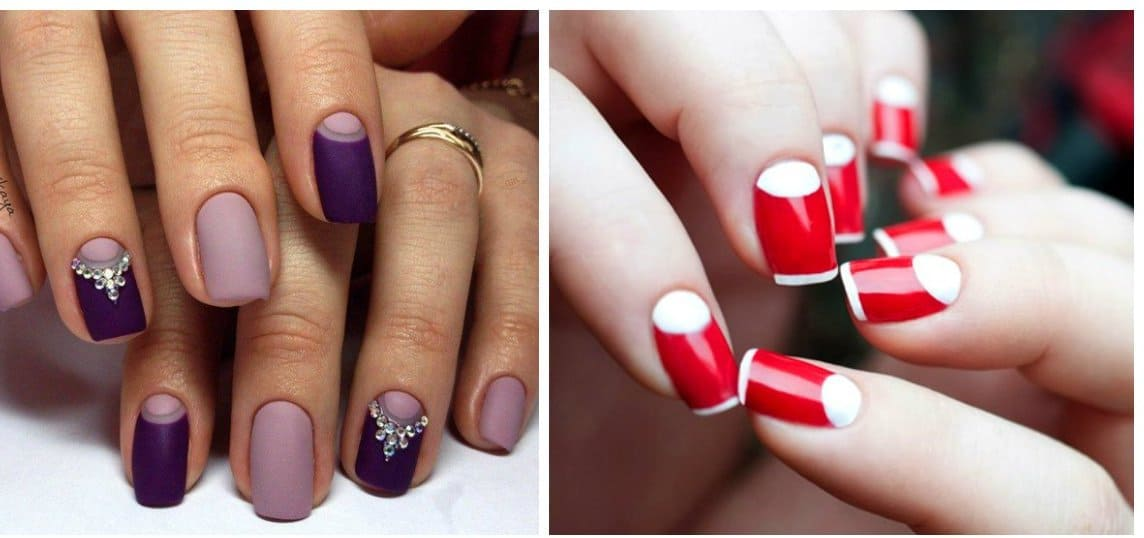 popular nails 2018, dark plum color nails, red color