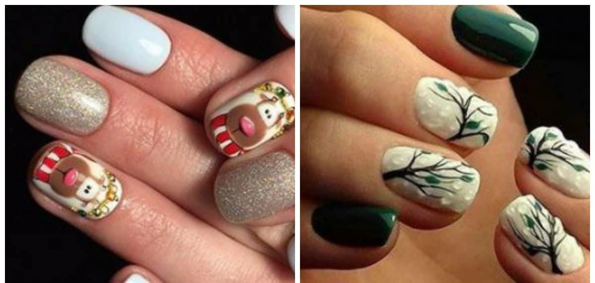 trending nail designs, nails with flower and animal motifs