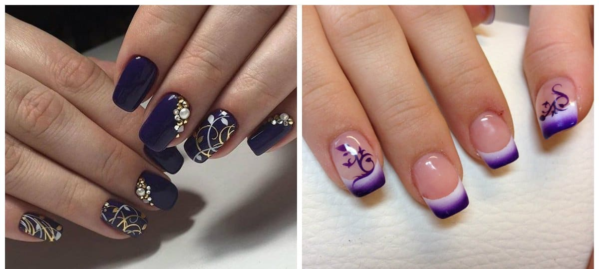 trending nail colors, trendy mirror nails 2018