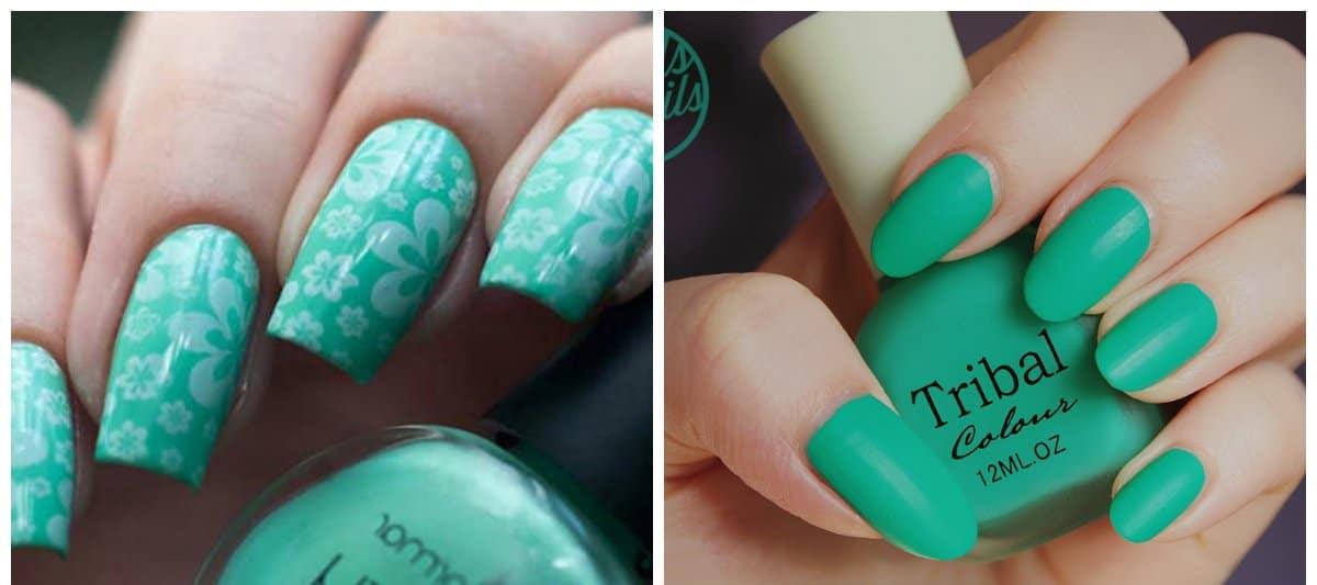 summer nail art, stylish green nails