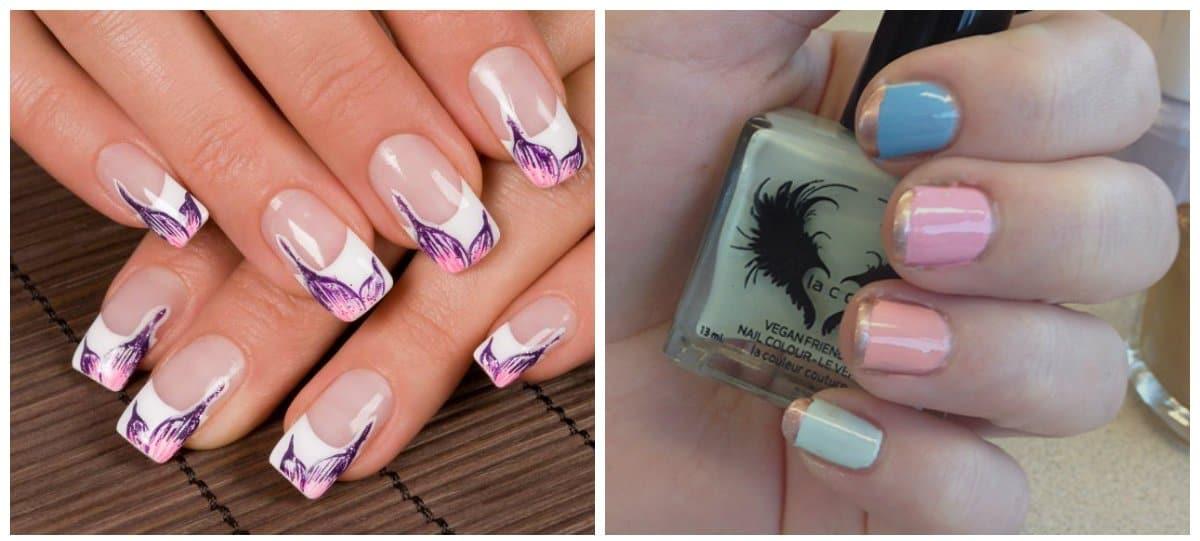 summer 2018 nail colors, pastel french nails
