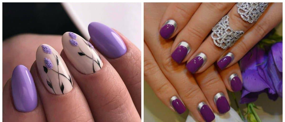 summer 2018 nail colors, purple nails, lavender nails