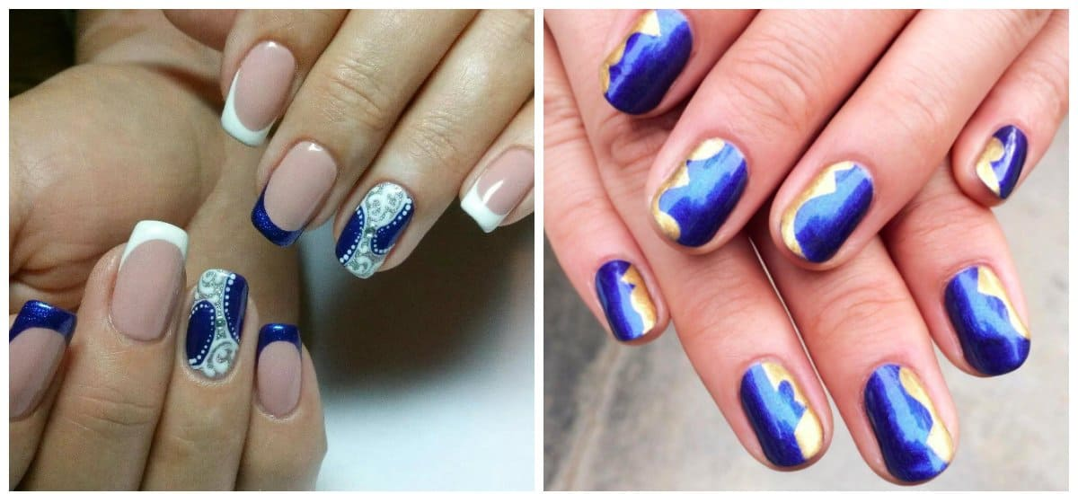 winter nails 2018, stylish winter blue nails