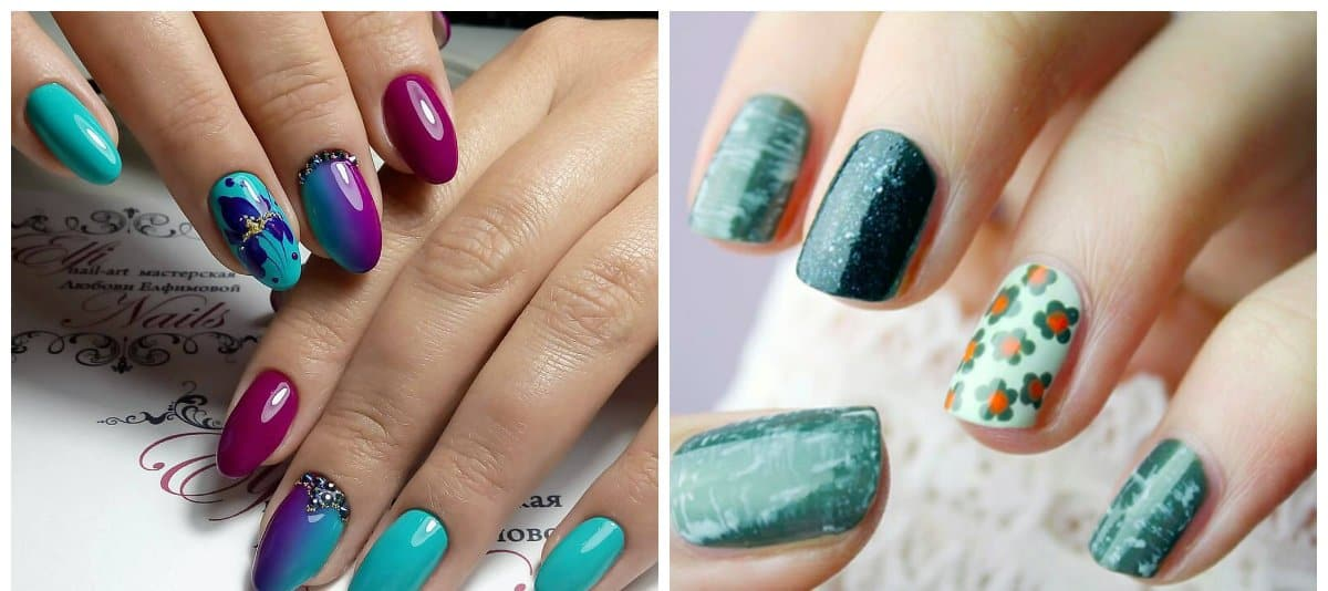 winter nails 2018, fashionable emerald nails 2018