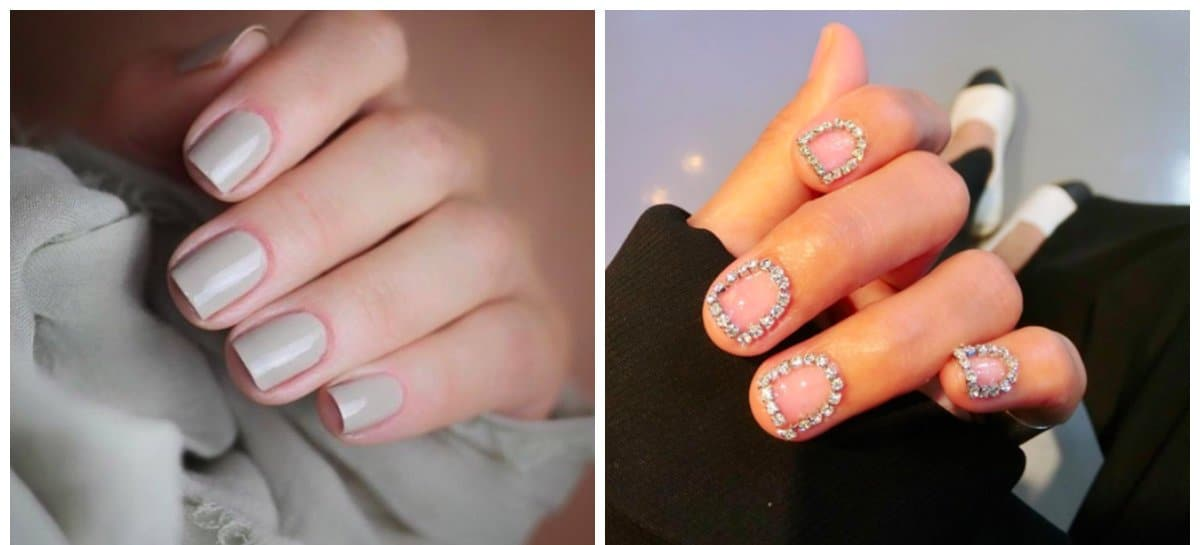 winter nail colors 2018, stylish gray winter nails