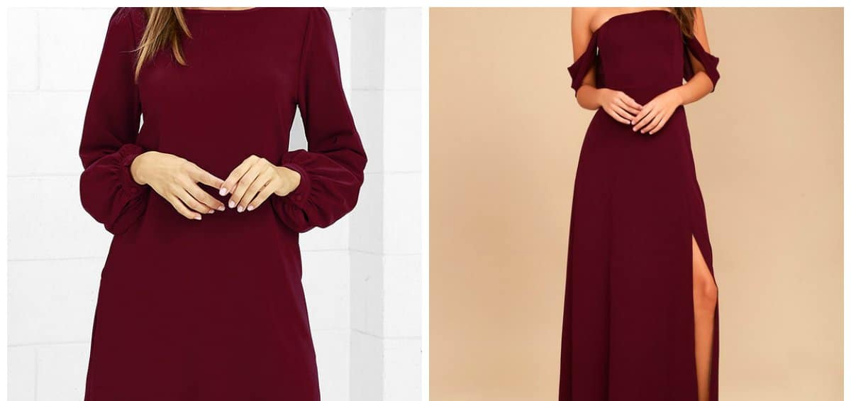 2018 fashion colors, stylish burgundy color