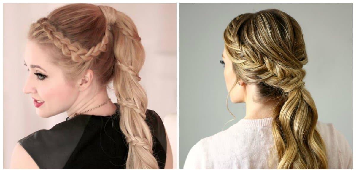 evening hairstyles 2019, stylish braided ponytail