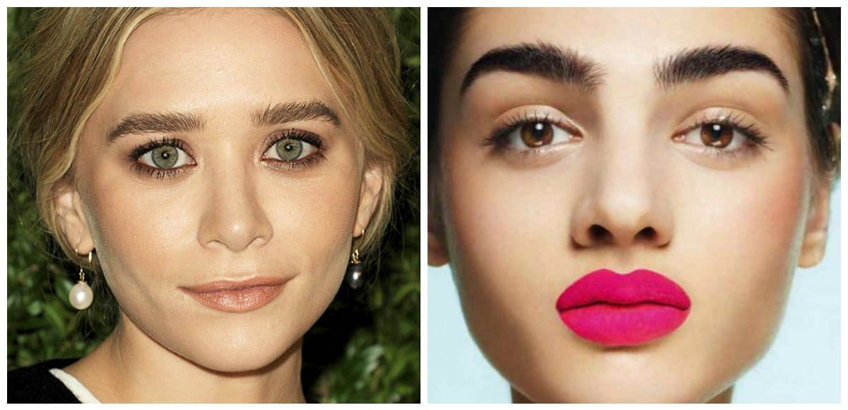 eyebrow trends 2018, fashionable boyish eyebrows