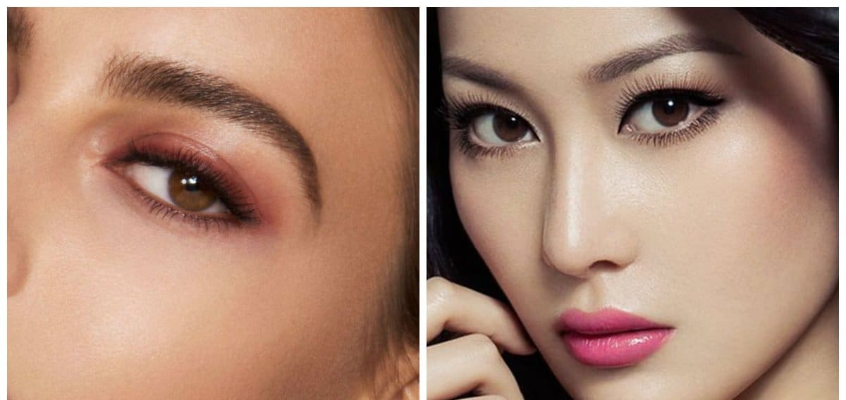 eyebrow trends 2018, stylish natural curves