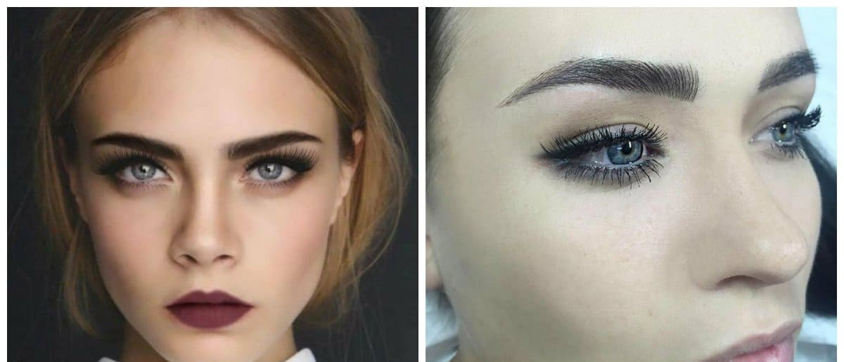 eyebrow trends 2018, stylish wide eyebrows