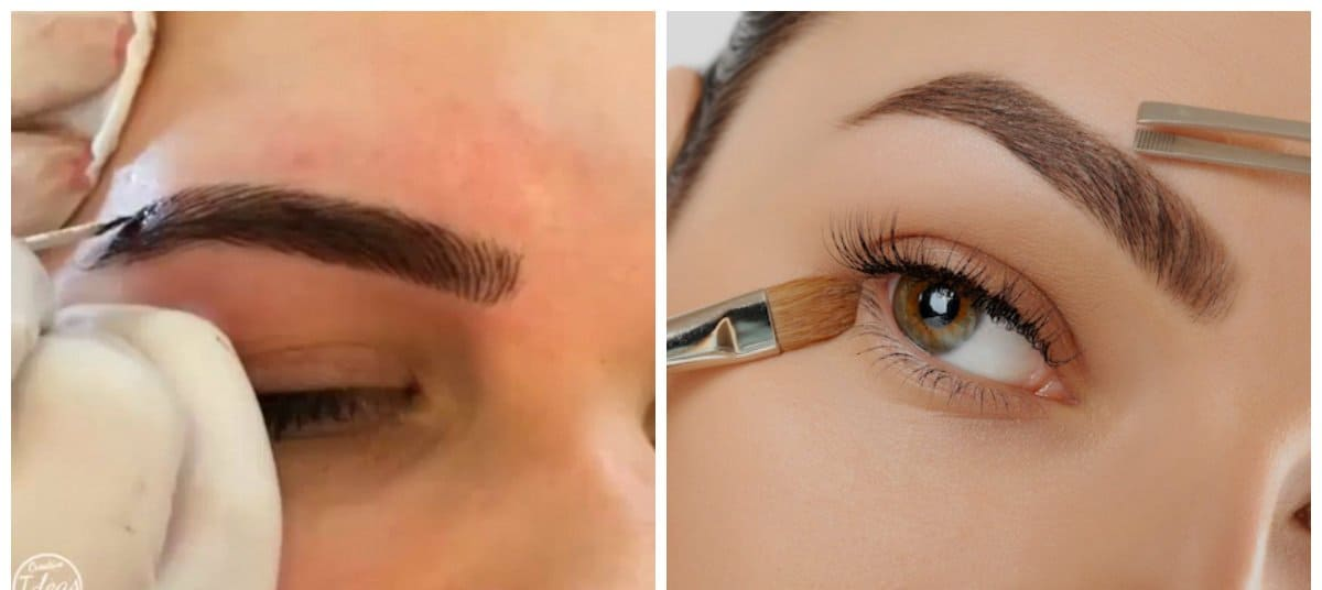 eyebrows 2018, stylish microblasting of eyebrows