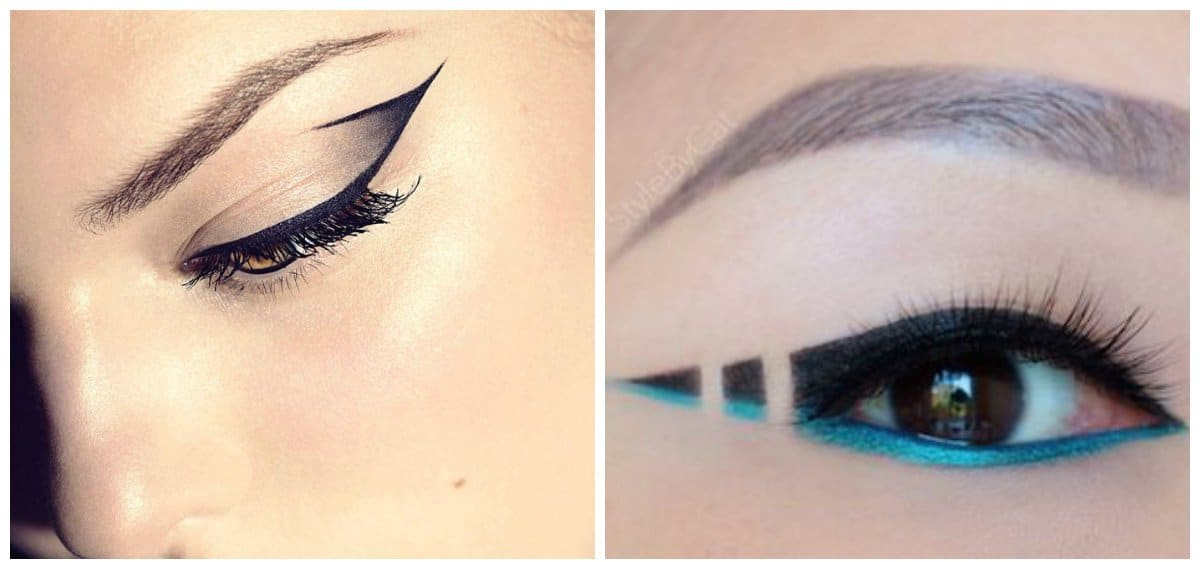 eyeliner trends 2018, eye makeup for narrow eyes