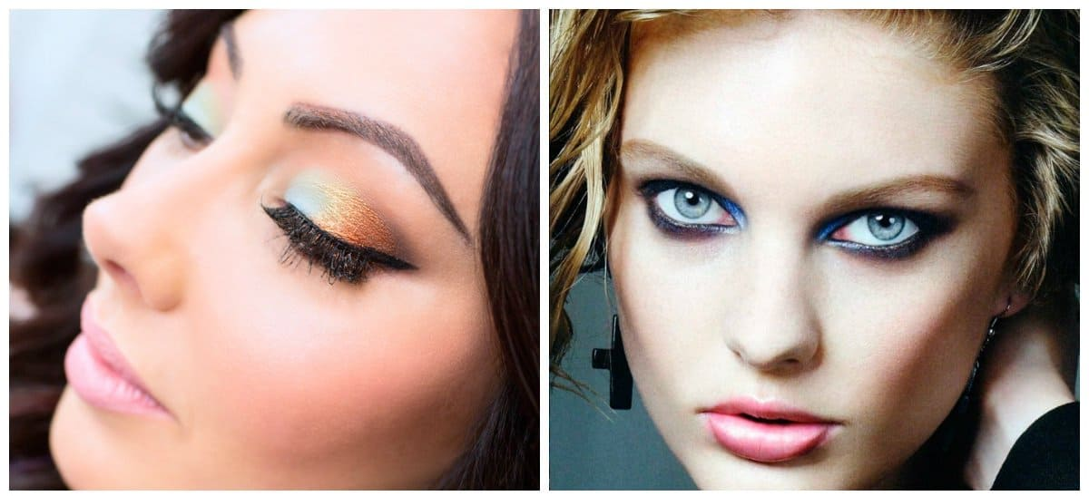 makeup looks 2018, stylish bright shadows