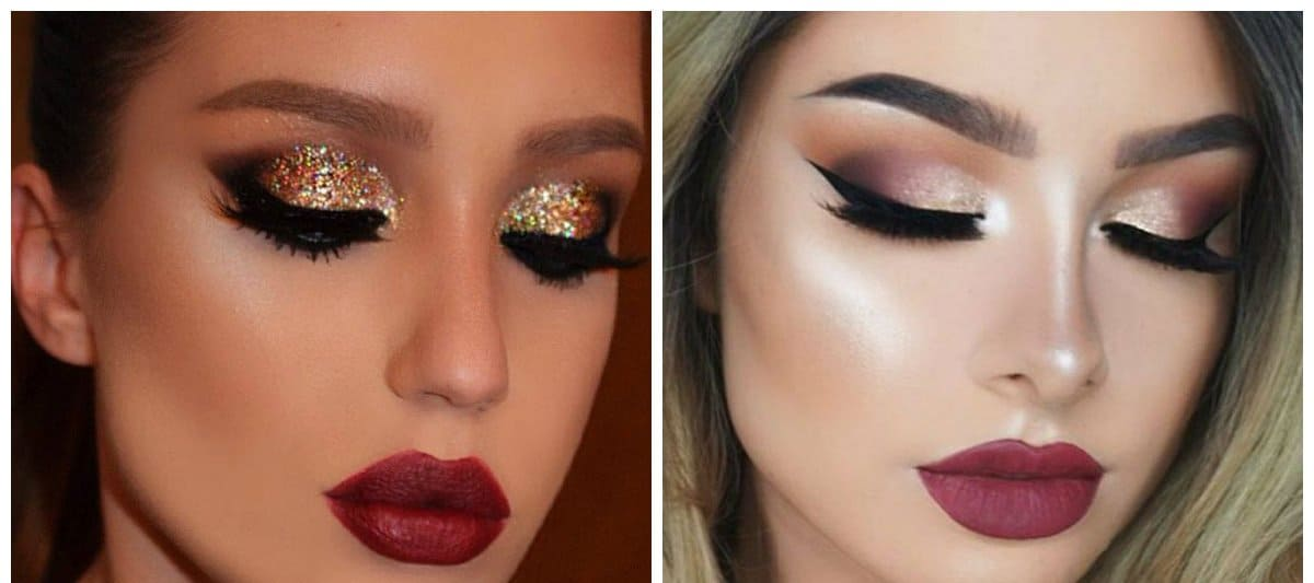 makeup looks 2018, stylish arrows in makeup