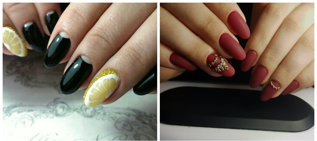 nail models 2018, stylish almond shape nails 2018