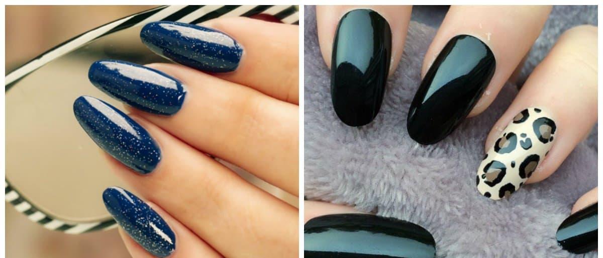 nail models 2018, fashionable oval nails 2018