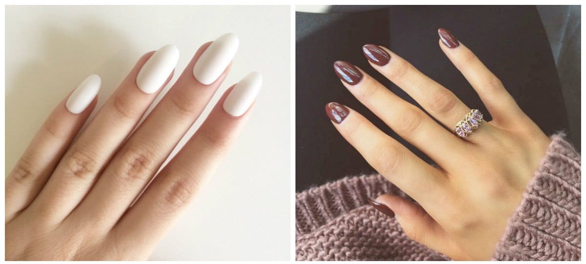 nail models 2018, stylish round shaped nails 2018