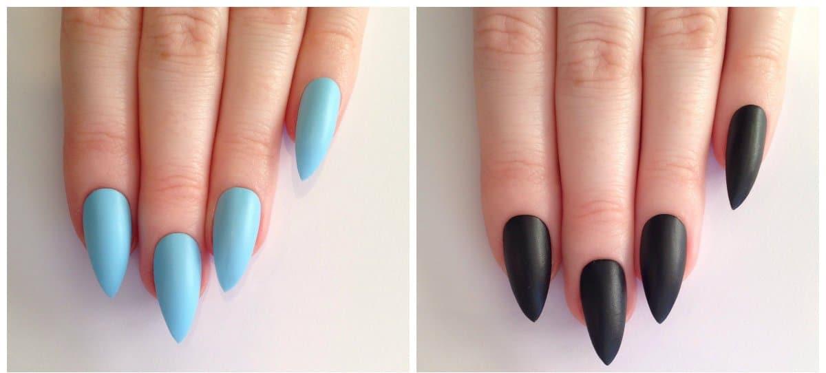 nail models 2018, stylish sharp shape nails 2018