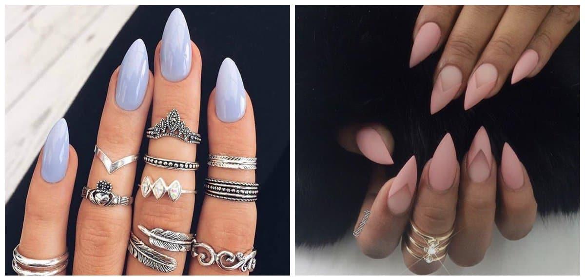 nail models 2018, stiletto nail shape 2018
