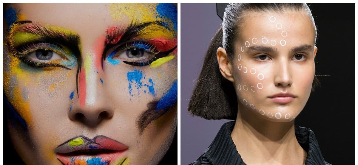 new beauty trends 2018, fashionable art makeup