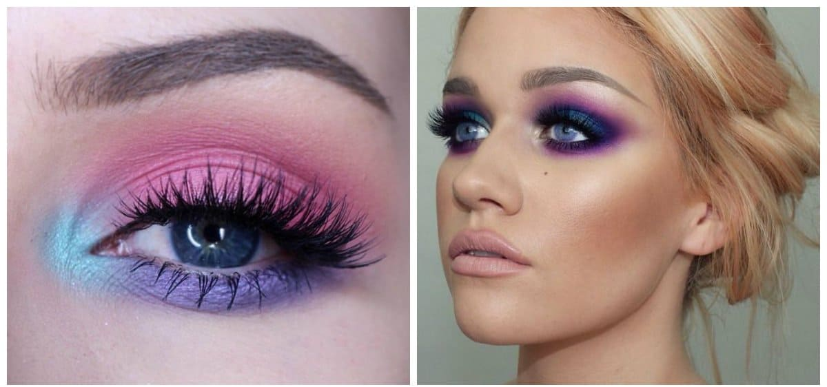 new beauty trends 2018, bright eyeshadows