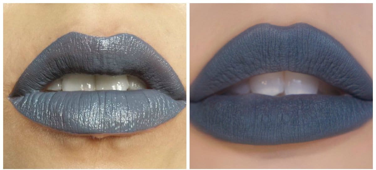 new beauty trends 2018, stylish gray lipstick