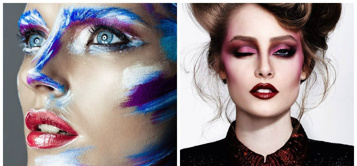 new beauty trends 2018, stylish art makeup
