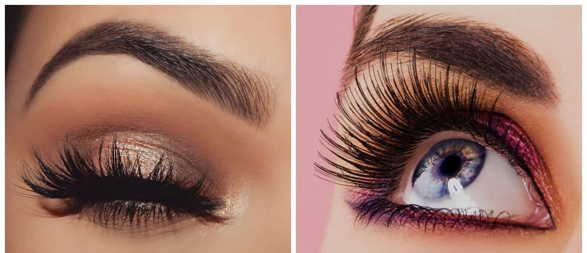 new beauty trends 2018, stylish eyelashes makeup