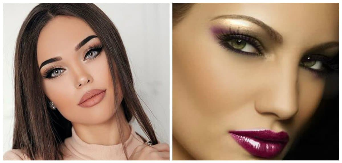 party makeup 2018, trendy eyebrows for party makeup 2018