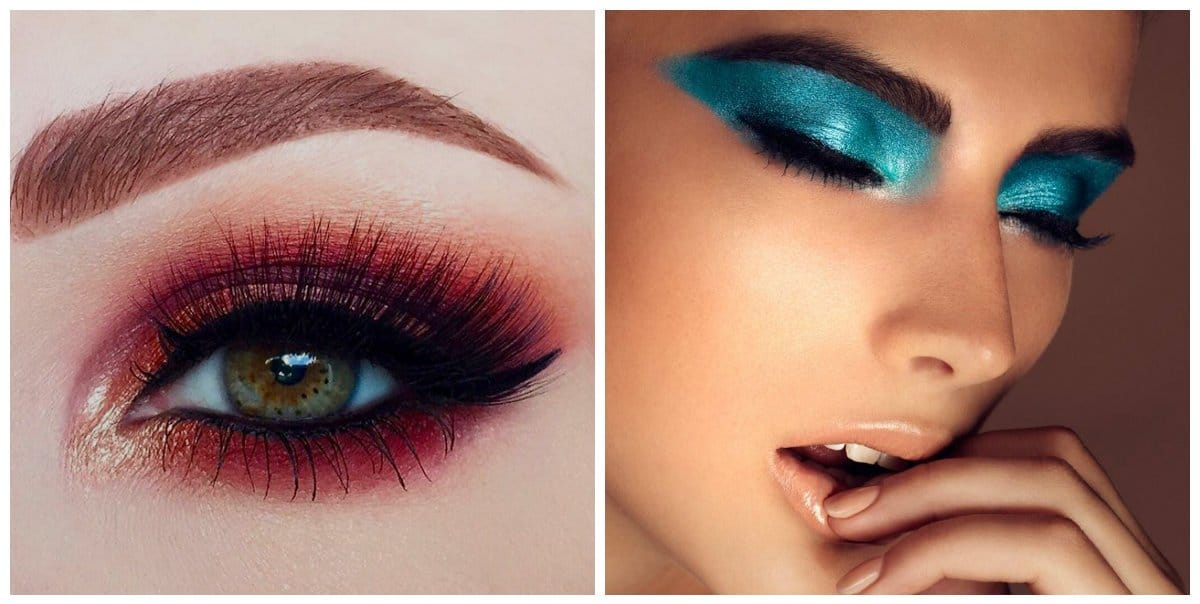 party makeup 2018, party makeup 2018 with bright shadows