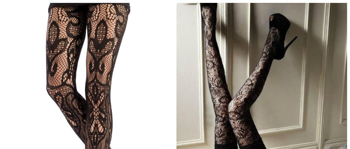 tights 2018, tights with lace