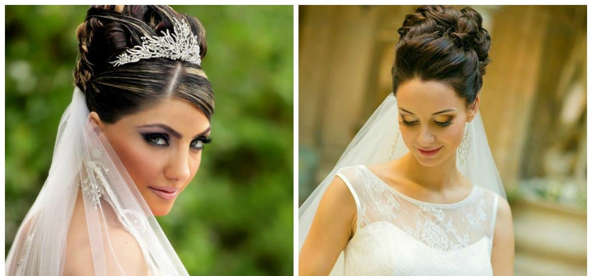 wedding hairstyles 2018, fashionable beam
