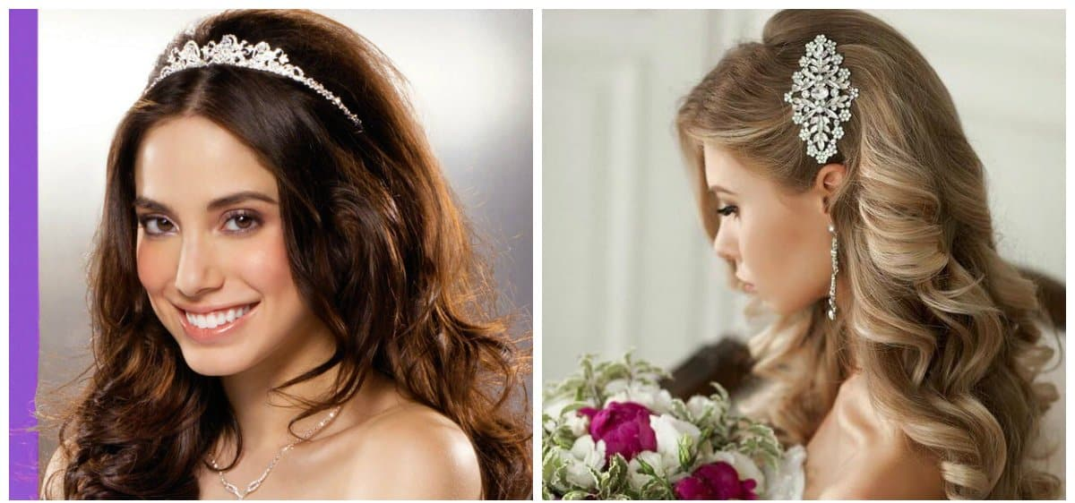 wedding hairstyles 2018, hairstyles with ringlets