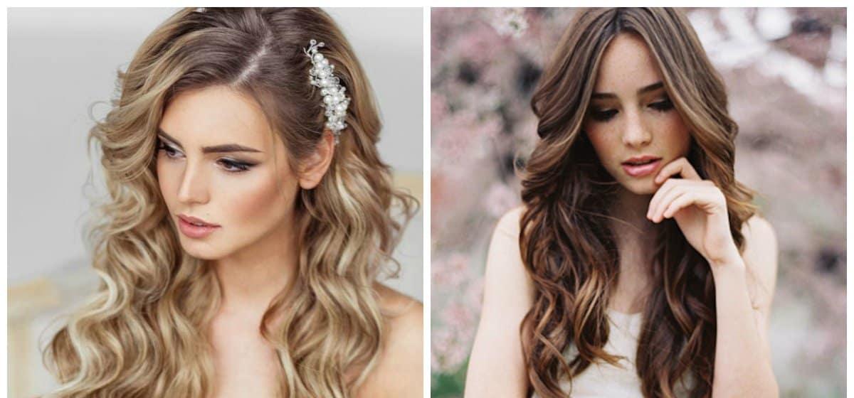 wedding hairstyles 2018, stylish loose curls
