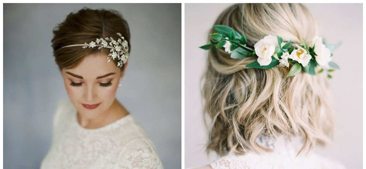 wedding hairstyles 2018, hairstyles for short hair