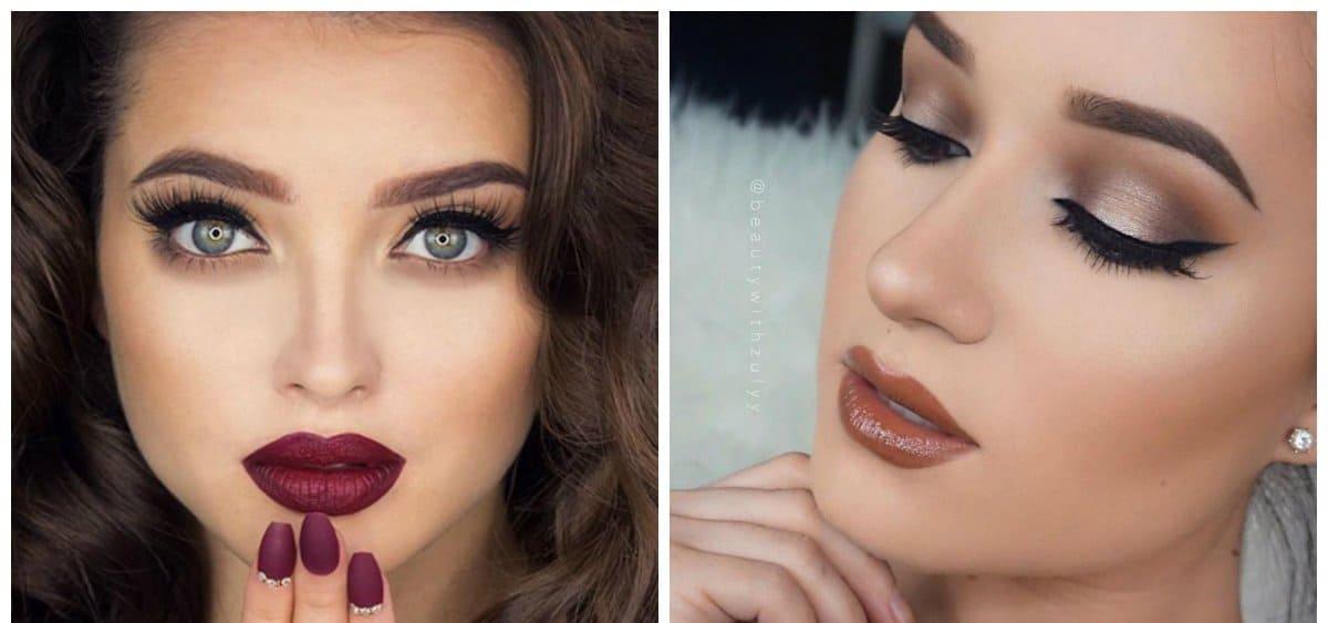 wedding makeup 2018, matte wine lips, terracotta lips