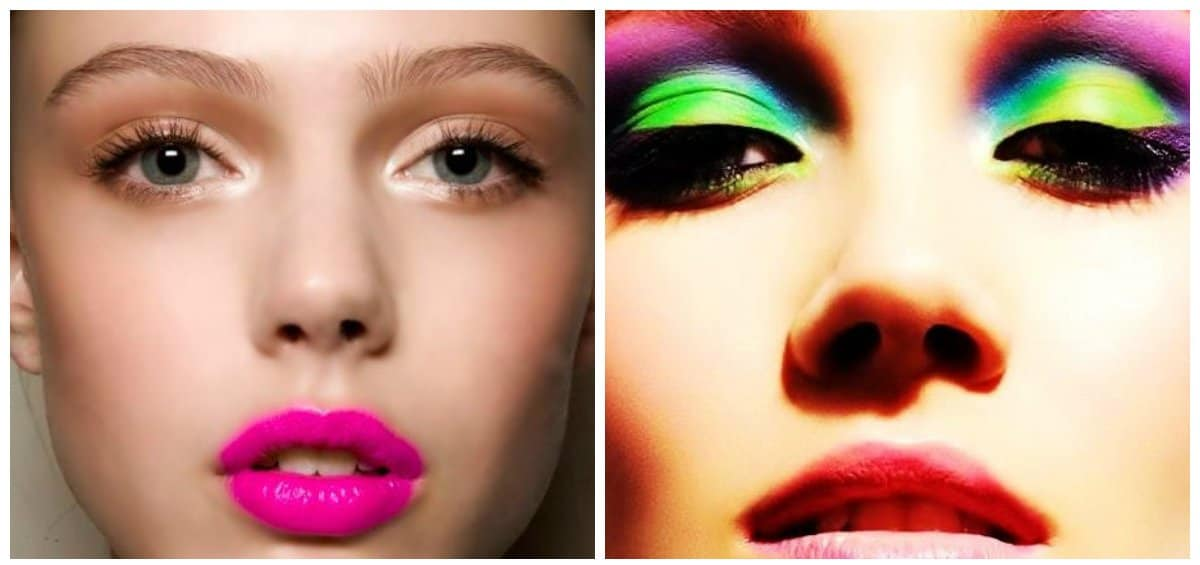 wedding makeup 2018, stylish makeup with neon colors