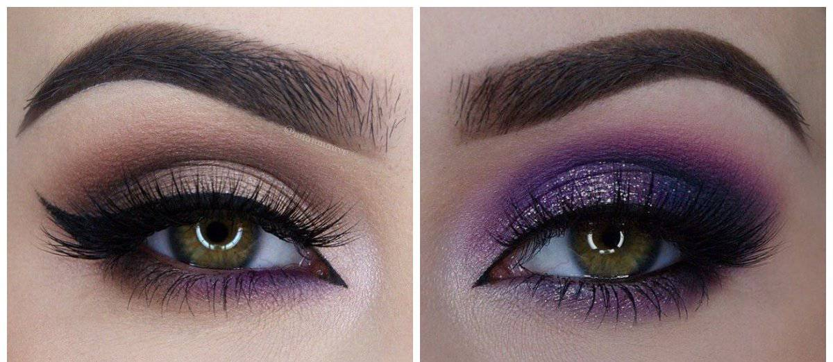 wedding makeup 2018, stylish purple eyeliner