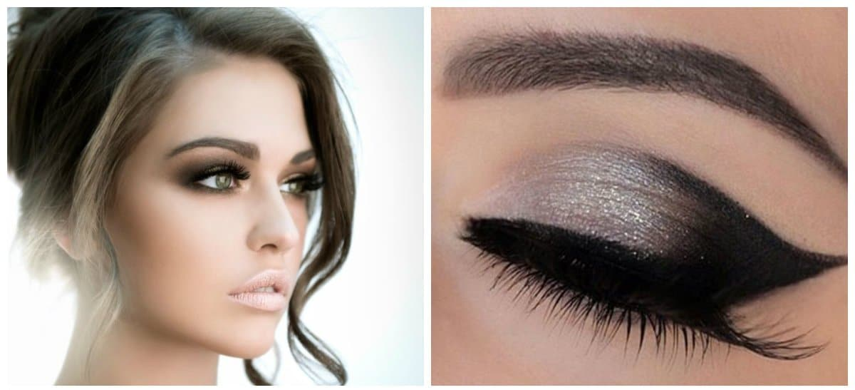 wedding makeup 2018, stylish smoky eyes