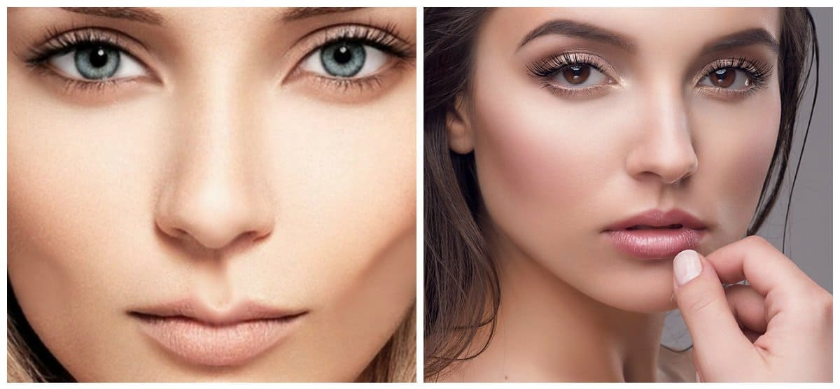 winter makeup trends 2018, stylish nude makeup