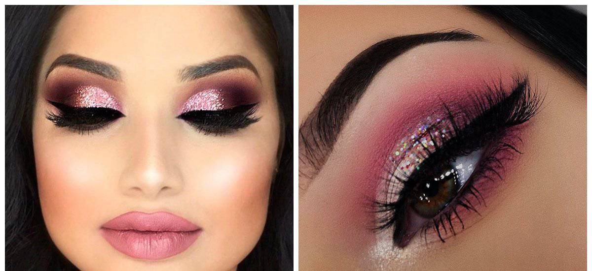 winter makeup trends 2018, stylish pink makeup