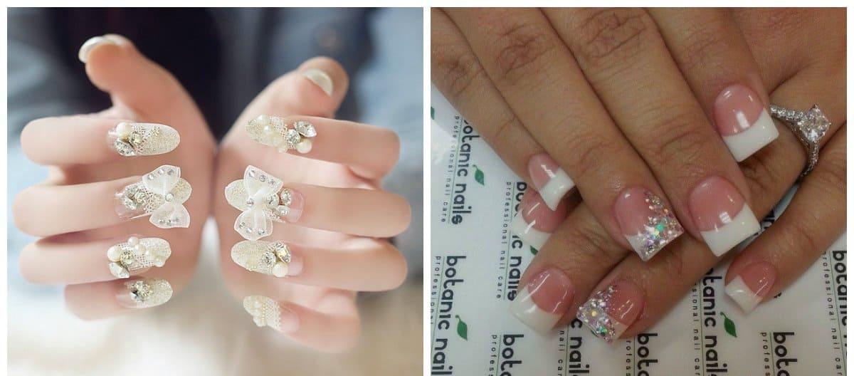 acrylic nails 2018, stylish acrylic bridal nails