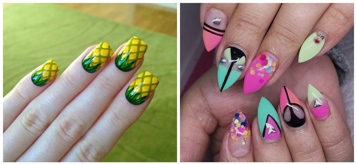 acrylic nails 2018, stylish designs of acrylic nails