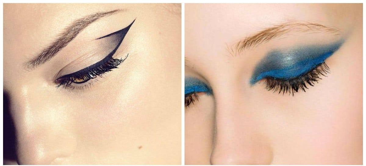 bridal makeup trends 2018, graphic style makeup
